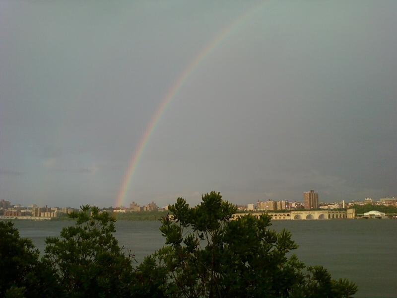 Rainbow over the Hudson River